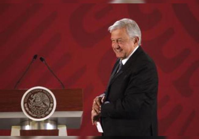 El presidente de México, Andrés Manuel López Obrador, durante su conferencia de prensa matutina hoy, en Ciudad de México (México). EFE