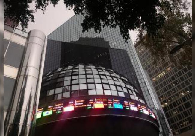 Fachada de la Bolsa Mexicana de Valores en Ciudad de México. EFE/Archivo