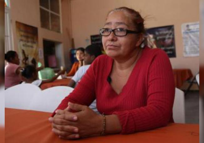 Juana, una migrante hondureña, habla con Efe el 28 de mayo de 2019 en Ciudad Juárez (México). EFE