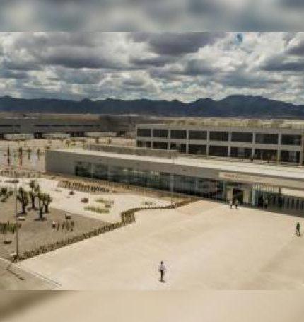 Fotografía cedida este jueves por BMW que muestra la nueva planta del fabricante automovilístico alemán en el estado de San Luis Potosí (México). EFE/BMW/SOLO USO EDITORIAL