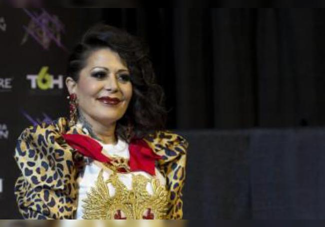 Alejandra Guzman durante la conferencia de prensa. EFE/Archivo