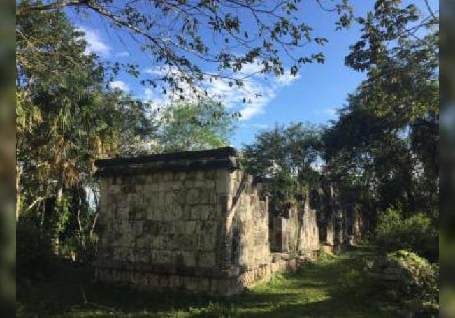 Detalle de un fragmento de la zona arqueológica de Kulubá el pasado 12 de mayo de 2019, en el estado de Yucatán (México). EFE