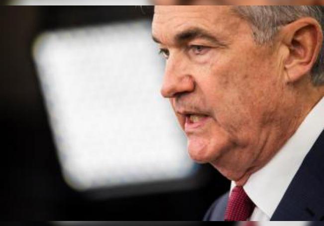 El presidente de la Reserva Federal, Jerome H. Powell, anuncia la decisión de la Fed de mantener las tasas de interés. EFE/Archivo