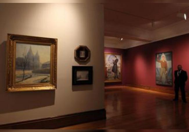"""Vista general este miércoles de la exposición """"Siglo XX en el XXI, Colección del Museo Nacional de Arte"""" en Ciudad de México (México). EFE"""