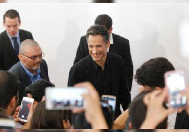 """El actor mexicano Gael García Bernal llega hoy viernes, a la presentación de la película """"Chicuarotes"""", en la ciudad de Guadalajara en el estado de Jalisco (México). EFE"""