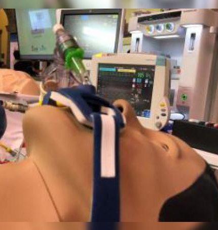 Vista de un simulador este miércoles en el Centro de Enseñanza por Simulación de Postgrado en la Facultad de Medicina de la Universidad Nacional Autónoma de México (UNAM) en Ciudad de México (México). EFE