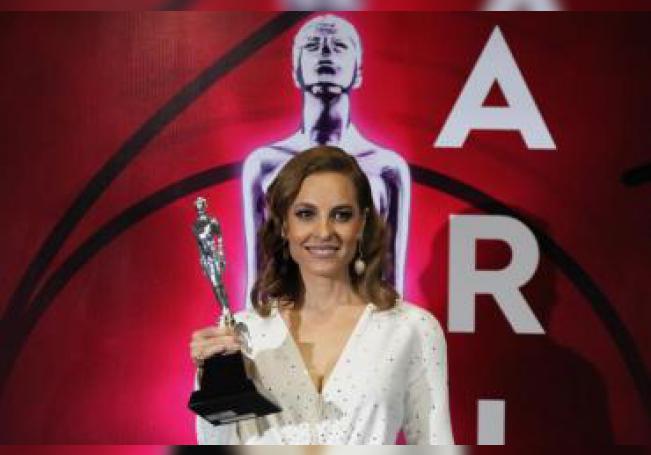 La actriz Marina de Tavira posa en la alfombra roja durante la 61 edición de los Premios Ariel que otorga la Academia Mexicana de Artes y Ciencias Cinematográficas (AMACC). EFE/Mario Guzmán/Archivo