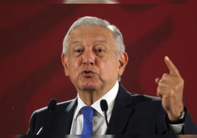 El presidente de México, Andrés Manuel López Obrador, durante su conferencia de prensa matutina en el Palacio Nacional en Ciudad de México (México). EFE/Mario Guzmán/Archivo