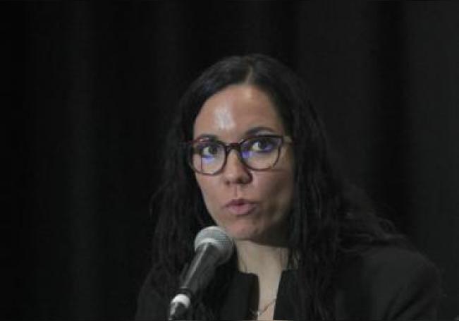 La científica Brenda Crabtree participa en la 10 Conferencia Mundial Científica sobre VIH (IAS 2019) este martes, en Ciudad de México (México). EFE/ Mario Guzmán