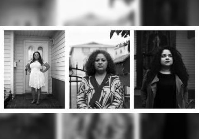 """Fotografía sin fechar cedida por la artista plástica y fotógrafa hispana Aydinaneth Ortiz donde se muestra la composición fotográfica """"Hijas de Ana"""", de la serie """"Hija de tu madre"""" , un tributo a las mujeres inmigrantes como parte de la exposición """"Hogar"""", que se inaugura este viernes en Santa Fe (Nuevo México, EE.UU.). EFE/Cortesía Aydinaneth Ortiz/SÓLO USO EDITORIAL"""