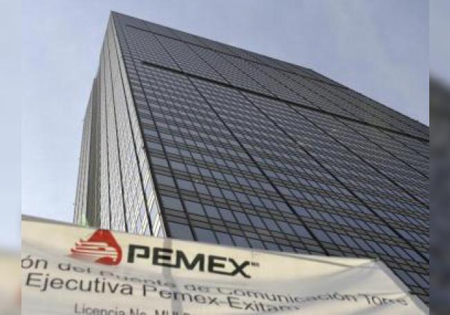 Vista de la Torre Corporativa de Petróleos Mexicanos (PEMEX), ubicada en Ciudad de México.