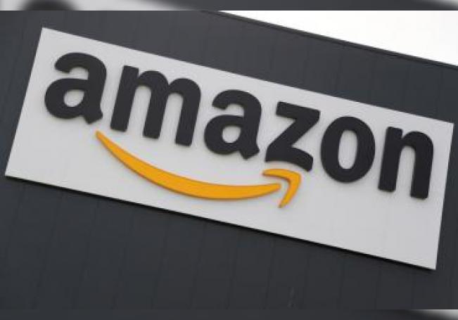 Imagen de archivo muestra el logotipo de la compañía estadounidense Amazon, en Werne (Alemania). EFE/ Friedemann Vogel/Archivo