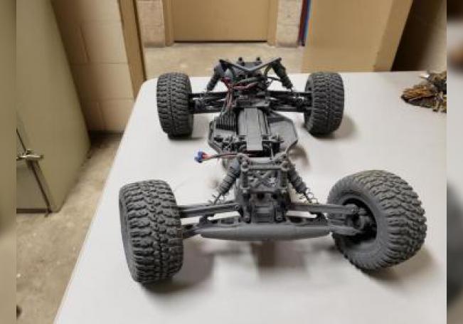 Fotografía cedida por la Patrulla Fronteriza estadounidense donde se muestra el vehículo de control remoto que se usaba para pasar drogas por la frontera. EFE/Patrulla Fronteriza EE.UU./SOLO USO EDITORIAL/NO VENTAS