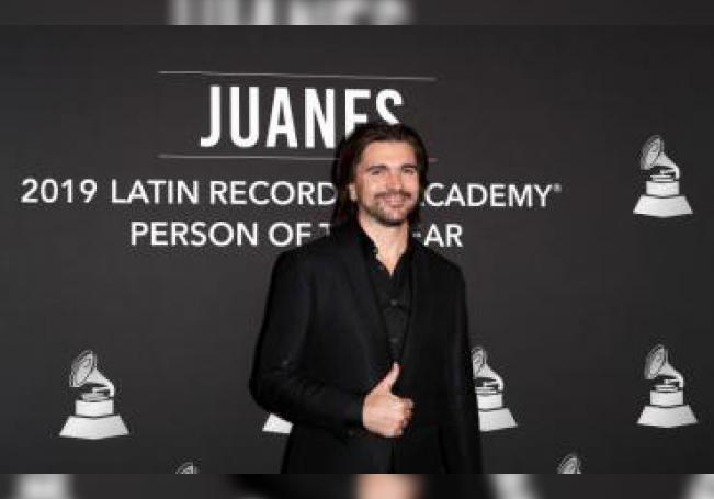 El músico colombiano Juanes llega a la gala Persona del Año de la Academia Latina de la Grabación 2019 en el MGM Grand Conference Center en Las Vegas, Nevada, EE. UU., el 13 de noviembre de 2019. EFE/EPA/Nina Prommer/Archivo