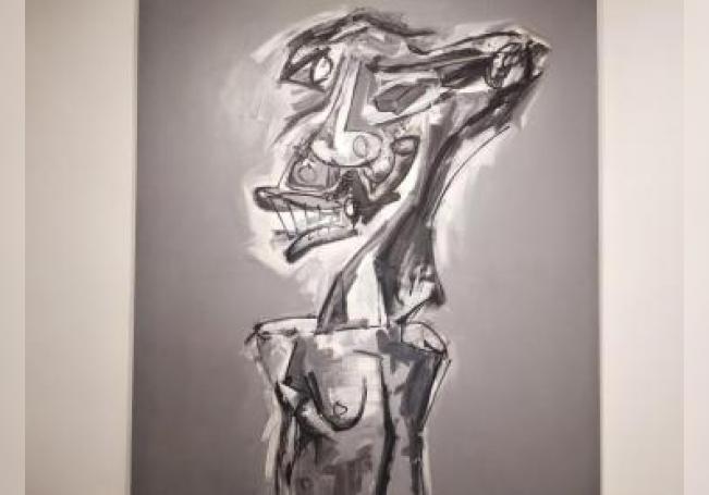 Galería Mayoral de París/ Retrato Brigitte Bardot de Antonio Saura. EFE/Paula Bayarte.