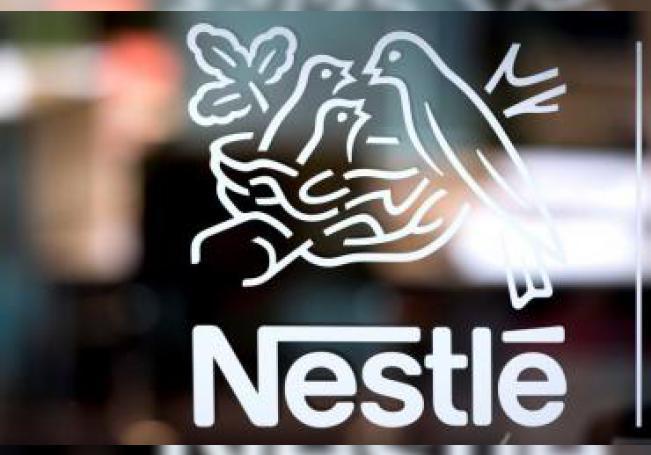 Logotipo de Nestlé en su sede en Vevey (Suiza). EFE/ Laurent Gillieron/Archivo