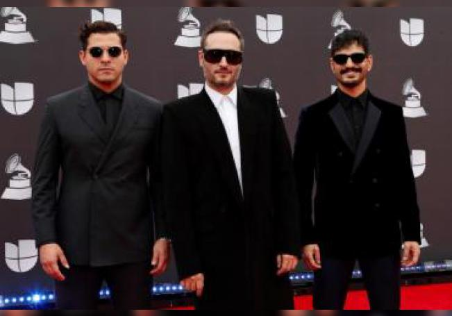 The band Reik arrives for the 20th annual Latin Grammy Awards ceremony at the MGM Grand Garden Arena in Las Vegas, Nevada, USA. EFE/EPA/Nina Prommer/File