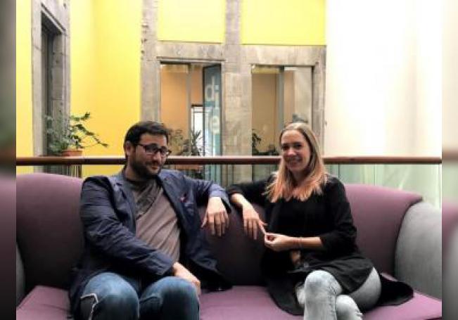 Valeria Castro y a Raúl Rubio hablan sobre The Game Summit en una charla con EFE. EFE/Rodrigo Corona