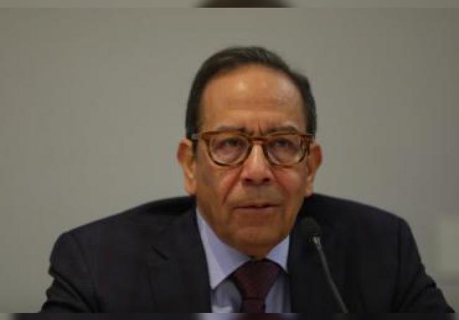 El presidente del Consejo Coordinador Empresarial Carlos Salazar Lomelín habla durante una rueda de prensa en Ciudad de México (México). EFE/ Sashenka Gutierrez/Archivo