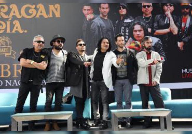 Los integrantes del grupo de rock El Haragán y Cia. posan este jueves durante una rueda de prensa en Ciudad de México (México). EFE/ Sáshenka Gutiérrez