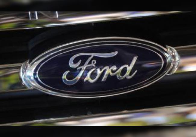 Fotografía de archivo que muestra el logo de Ford. EFE/Julian Smith/Archivo