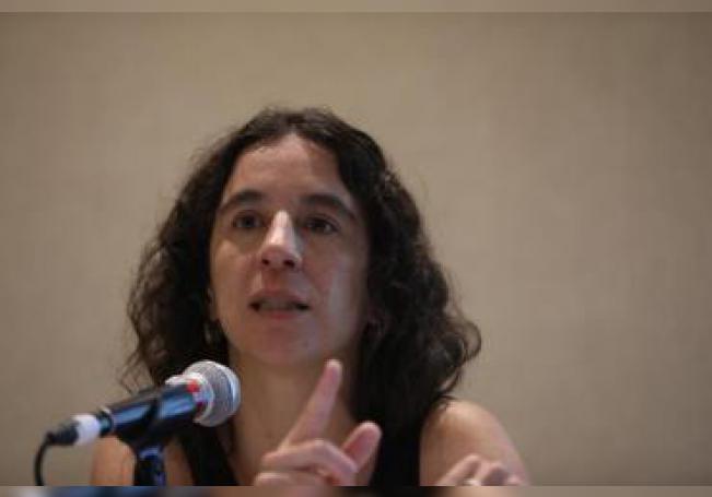 La profesora e investigadora mexicana, Marcela Reyes del instituto de nutrición y tecnología de los alimentos de Chile , participa hoy miércoles 11 de diciembre de 2019 en Ciudad de México (México) durante una rueda de prensa. EFE/Sáshenka Gutiérrez