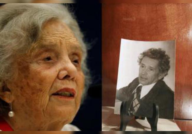 Combo de fotografías de archivo que muestran a la premio Cervantes 2013, Elena Poniatowska (i), y al escritor mexicano Juan José Arreola (d). EFE/ Archivo