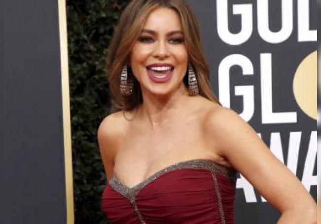 Sofia Vergara arrives for the 77th annual Golden Globe Awards ceremony at the Beverly Hilton Hotel, in Beverly Hills, California, USA, 05 January 2020. EFE/Nina Prommer
