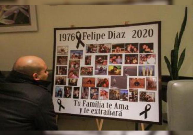 Vista general este viernes de los asistentes al funeral del chef español Felipe Díaz Zamora, en la ciudad de Tijuana en Baja California (México). EFE/Joebeth Terriquez