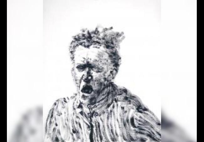 """""""Autorretrato"""".Gritando una mañana,1969 de Avigdor Arikha. EFE/Foto cedida"""