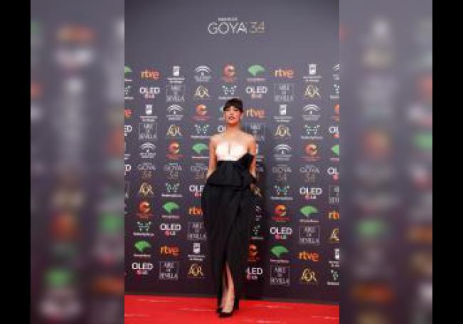 La actriz Belén Cuesta, a su llegada a la entrega de los Premios Goya 2020 que se celebra esta noche en el Palacio de los Deportes José María Martín Carpena, en Málaga. EFE/Jorge Zapata.