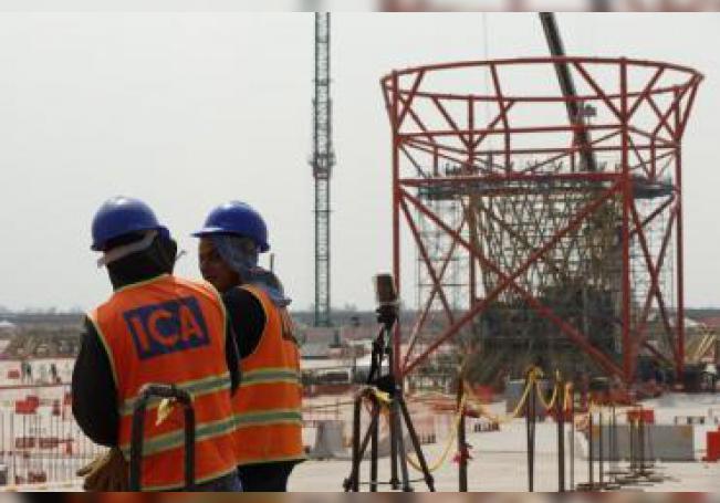 Fotografía del 14 de marzo de 2018, que muestra los adelantos de la construcción del que iba a ser el nuevo aeropuerto, en Ciudad de México, ubicado en el municipio de Texcoco, en Estado de México. EFE/José Méndez/Archivo