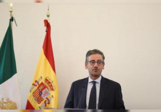 El presidente de la Cámara Española de Comercio, Antonio Basagoiti, participa hoy miércoles, durante una conferencia en Ciudad de México (México). EFE/Sáshenka Gutiérrez