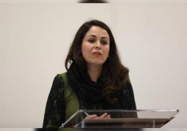 Ana Cristina Ruelas, directora del Artículo 19, participa el 05 de febrero de 2020 en la firma de un convenio para protección a periodistas y defensores de derechos humanos en la capital mexicana. EFE/Sáshenka Gutiérrez/Archivo
