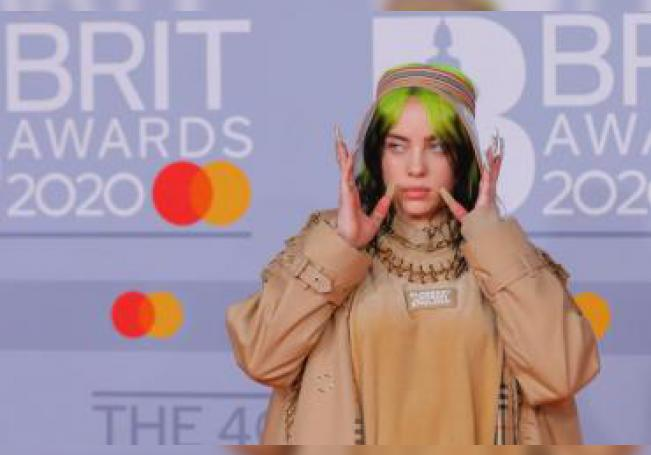 US singer Billie Eilish arrives for the Brit Awards 2020 at the O2 Arena in London, Britain 18 February 2020. EFE/EPA/Vickie Flores