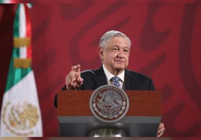 El presidente de México, Andrés Manuel López Obrador, ofrece una rueda de prensa en el Palacio Nacional, en Ciudad de México (México). EFE/ Sáshenka Gutiérrez/Archivo