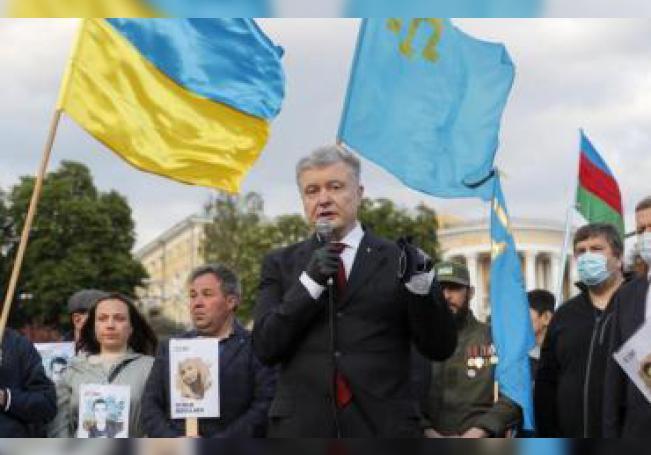El expresidente ucraniano Petro Poroshenko. EFE/EPA/SERGEY DOLZHENKO/ Archivo