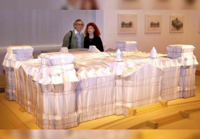 Christo y su mujer Jeanne-Claude, muerta en 2009. EFE/EPA/PEER GRIMM/ Archivo