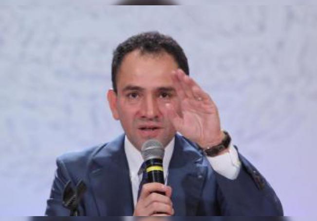 El secretario de Hacienda, Arturo Herrera, ofrece una rueda de prensa. EFE/ Sáshenka Gutiérrez/Archivo