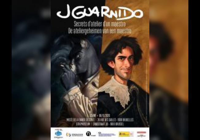 Cartel de la retrospectiva sobre el creador español de cómic Juanjo Guarnido que inaugura este miércoles el Museo del Cómic de Bruselas. EFE/ SÓLO USO EDITORIAL NO VENTAS