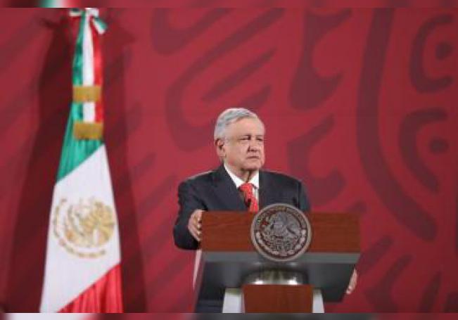 El presidente de México, Andrés Manuel López Obrador, ofrece una rueda de prensa en el Palacio Nacional de Ciudad de México (México). EFE/ Sáshenka Gutiérrez/Archivo