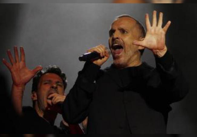 El cantante español Miguel Bosé. EFE/Luis Eduardo Noriega A./Archivo