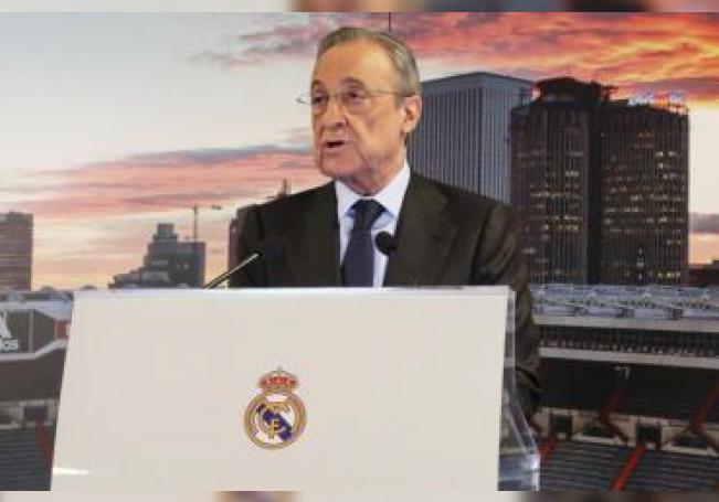 El presidente del Real Madrid, Florentino Pérez. EFE/ Angel Díaz/Archivo