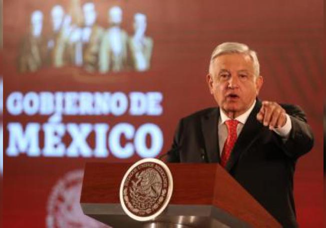 El presidente de México, Andrés Manuel López Obrador en una rueda de prensa matutina, en el Palacio Nacional de Ciudad de México (México). EFE/ Mario Guzmán/Archivo