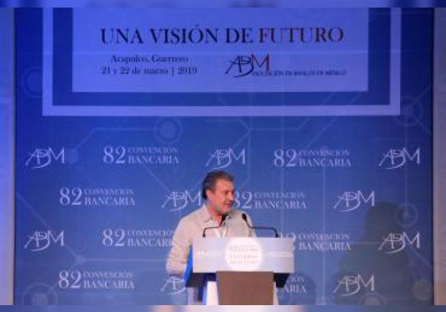 Marcos Martínez Gavica, participa en la inauguración de la 82 reunión anual de la banca mexicana en Acapulco, Guerrero. EFE/David Guzmán/Archivo
