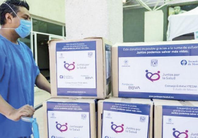 La Fundación Mexicana para la Salud sigue donando material de protección y equipos para el combate de la pandemia.