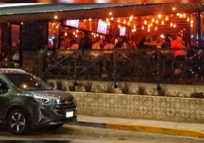 Un bar de la avenida Colosio, zona donde se anunciaron operativos.