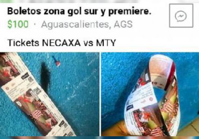 Muchos ofrecen las entradas para el partido del Necaxa contra Monterrey hasta al doble de su precio original.