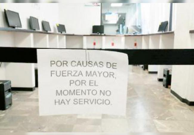Derivado de un problema informático, suspendieron actividades desde el pasado 13 de febrero.