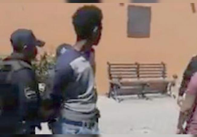 Uno de los afectados, detenido el domingo en Calvillo.